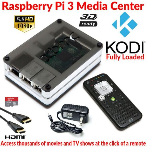 Raspberry Pi 3! Rig Together a Media Center for only $35! Plays