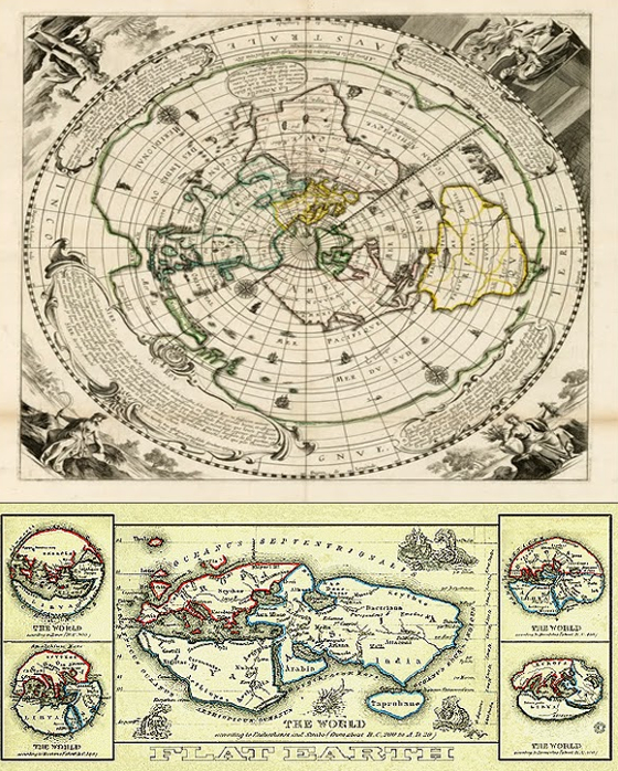 Flat earth conspiracy is it a hoax or the real thing reach unlimited old world flat earth maps gumiabroncs Choice Image