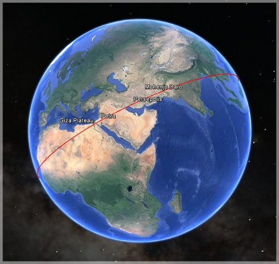 The Earth May Have an Old Equator! Sacred Sites Are Aligned